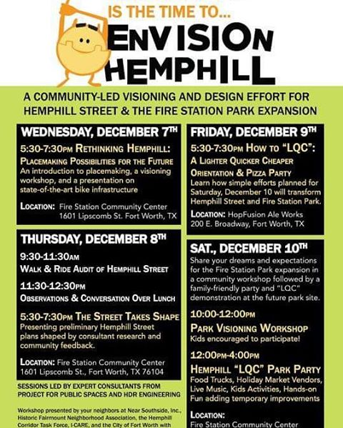 Envision Hemphill workshops are this week! Join the community Thursdayhellip