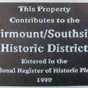 Fairmount Contributing Structure Plaque