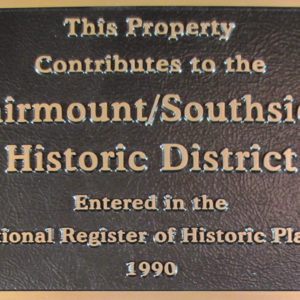 Fairmount Contributing Structure Plaque
