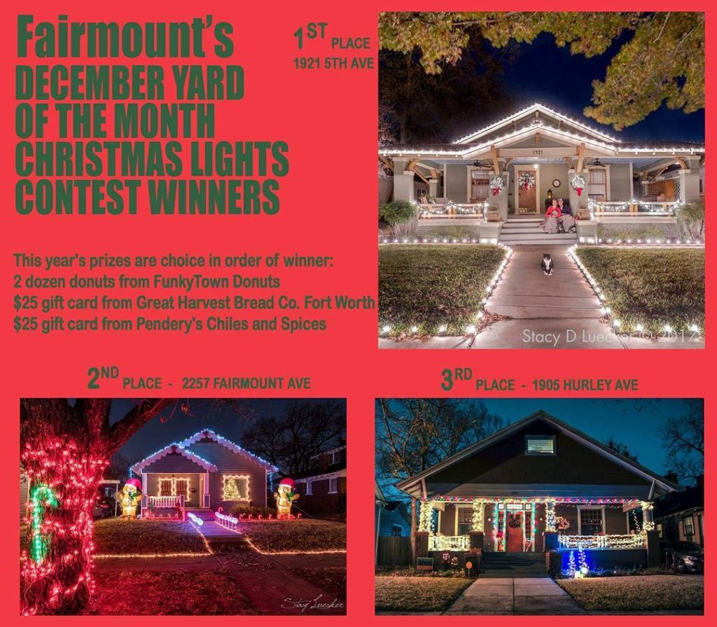 fairmountnationalhistoricdistrict december yotm decoratingcontest Christmas light winners