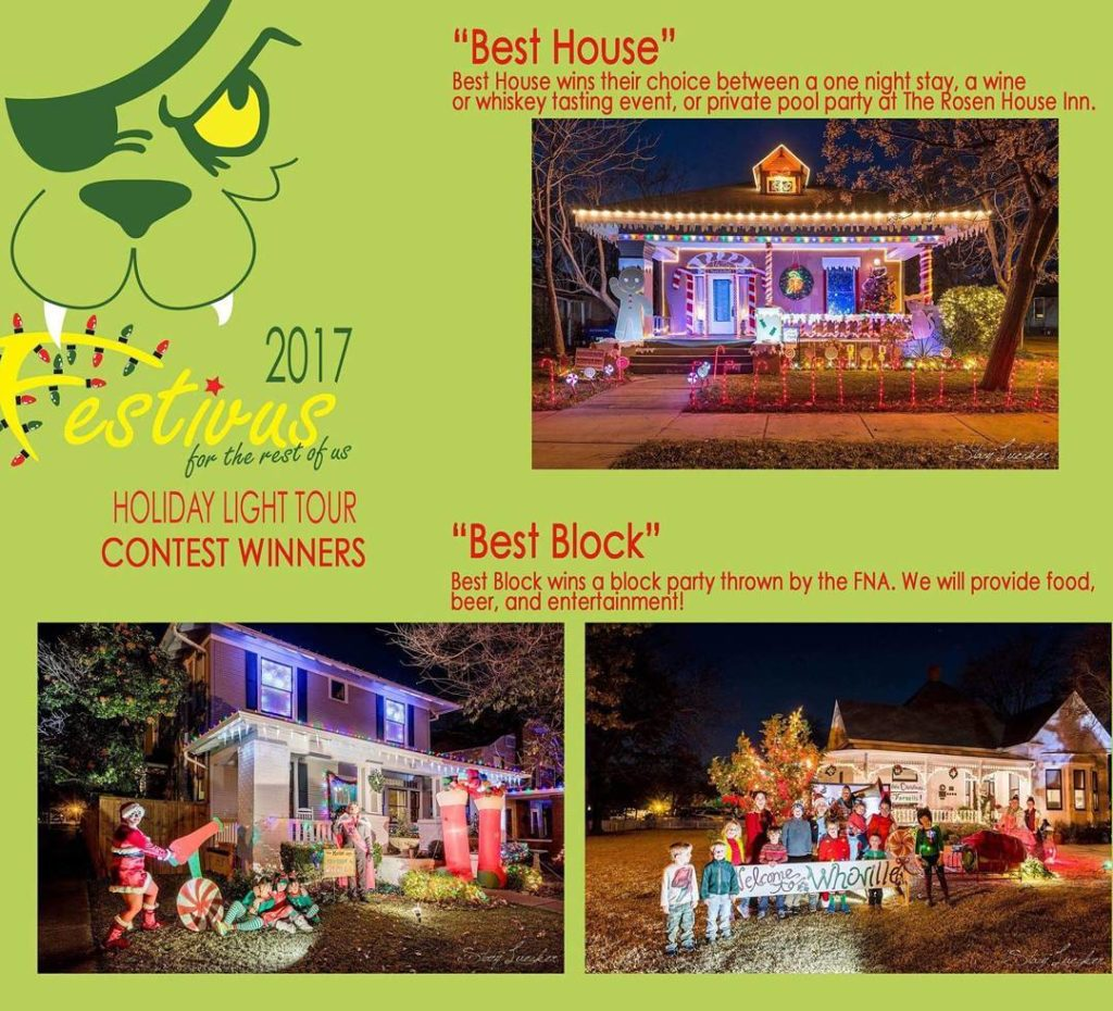 Festivus decorating contest winners fairmountnationalhistoricdistrict Festivus2017 decoratingcontest whoville